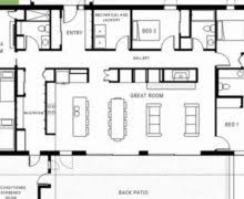 4 Bedroom Single Wide Floor Plans Single Story House Plans For Wide Lots Decohome