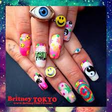 dope nail art by britney tokyo totes inspired nail art
