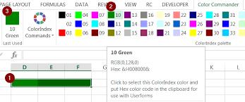 colour themes for excel excel color commander