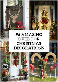 Christmas Reindeer Garden Decorations by Best 25 Outdoor Christmas Ideas On Pinterest Large Outdoor