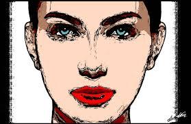 tableau portrait noir et blanc tableau visage femme noir blanc rouge inspirations avec tableau