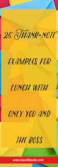 thank your boss for lunch 25 thank you note examples thanking