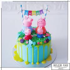 peppa pig birthday cakes peppa pig cake singapore river ash bakery