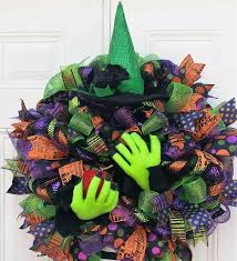 Halloween Door Wreath by Halloween Witch Wreath Witch Wreath Halloween Decor