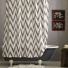 Pink And White Chevron Curtains Master Bathroom Inspiration Love The Chevron Shower Curtain With