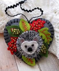 made to order hedgehog ornament by sandhralee on etsy