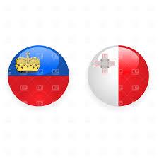 Matla Flag Liechtenstein And Malta Button Flags Royalty Free Vector Clip Art