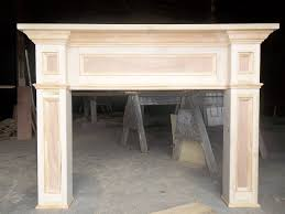 custom made paint grade fireplace mantel surround by old southern