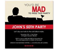 mad men birthday invitations