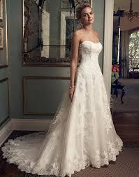 casablanca bridal 2222 strapless drop waist lace a line wedding