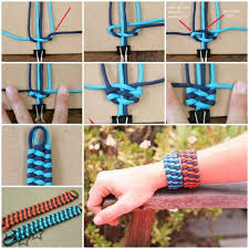 woven survival bracelet images Diy weave two color trilobite bar cuff bracelet tutorial video jpg