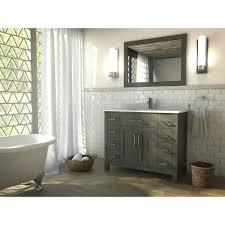 the kent 42 inch french gray finish bathroom vanity is maximum