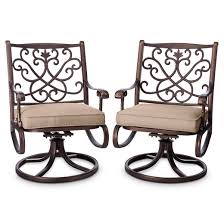 Swivel Dining Chair Folwell 2pk Cast Aluminum Swivel Dining Chairs Threshold Target