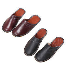 Mens Leather Bedroom Slippers by Leather Unbranded Solid 9 Slippers For Men Ebay