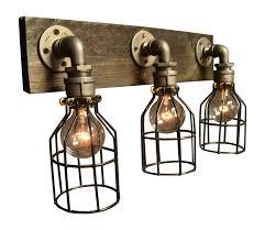 Industrial Bathroom Lights Industrial Bathroom Vanity Lighting Regarding 8359