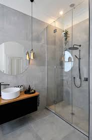grey tile bathroom modern nyfarms info