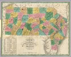 Map Of New Jersey And Pennsylvania by Pennsylvania New Jersey Delaware David Rumsey Historical Map
