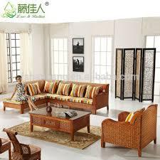 Wicker Indoor Sofa Wholesale Antique Royal Elegant Conservotary Indoor Wicker Bamboo