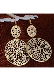 earrings online shopping hollow drop earrings jewellery and accessories for rs 199