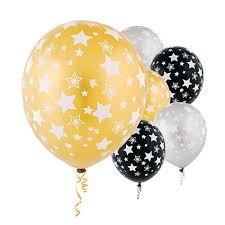 silver balloons designer balloons black gold silver balloons 20ct