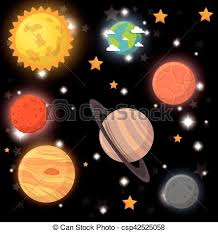 clipart vector of universe planets space concept vector