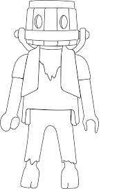coloriage playmobil chevalier à imprimer