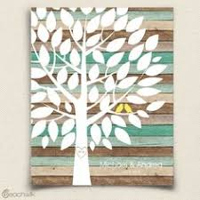 tree guest book custom wedding guest book gift wedding guestbook alternative tree