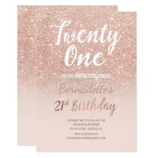 21st birthday invitations u0026 announcements zazzle