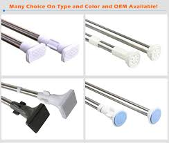 loaded extendable telescopic shower rod adjustable tension