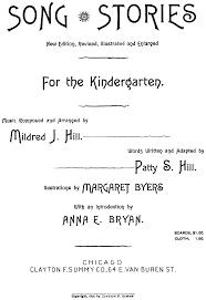 thanksgiving kindergarten songs song stories for the kindergarten hill mildred imslp petrucci