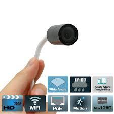 Poe Small Ip Camera 128g Tf Card P2p H 264 Small Wifi Hidden Video