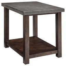 Cherry Wood Coffee Tables For Sale Chair Side End Table With Cast Cement Top By Signature Design By
