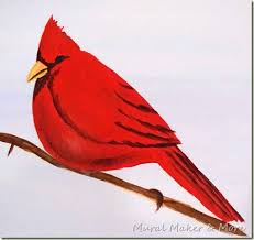 how to paint a red cardinal just paint it blog