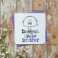 bestest big or little brother u0027 birthday card by parsy card co