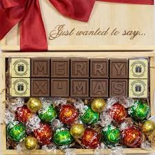 personalised christmas gifts thank you chocolates lindt chocolate
