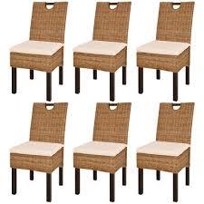sedia sala da pranzo vidaxl set 2 4 6 sedie sala da pranzo seggiole cucina rattan kubu