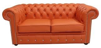 leather sofa with buttons buy orange leather chesterfield sofa with crystal buttons