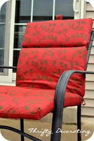 How To Restore Metal Outdoor Furniture by Thrifty Decorating Spraypainted Patio Furniture Redo