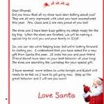 official letters from santa letter from santa mailed to child fresh what to say to your child