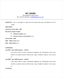 one page resume sample one page resume 9 examples in word pdf1