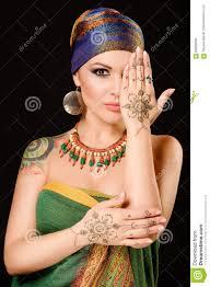 henna makeup henna fashion girl makeup tattoo veil musl
