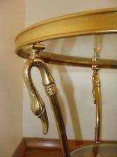 brass swan coffee table hand cast solid brass cocktail table with piecrust rim with inset