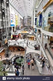toronto eaton centre one of the largest shopping malls in