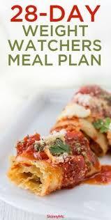 cuisine ww 28 day weight watchers meal plan weight watchers meal plans