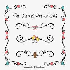 pack of hand drawn christmas borders vector free download