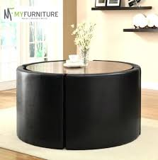 Table With Hidden Chairs Custom Black Dining Table With Hidden