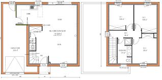 plan maison 100m2 3 chambres plan maison 100m2 2 etages de impressionnant plan maison 100m2 2