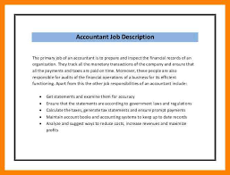 Bookkeeper Description For Resume Bookkeeper Resume