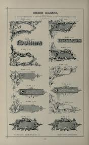 specimens of printing types ornaments border vintage