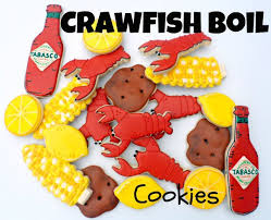 crawfish decorations crawfish boil cookies guest post the sweet adventures of sugar